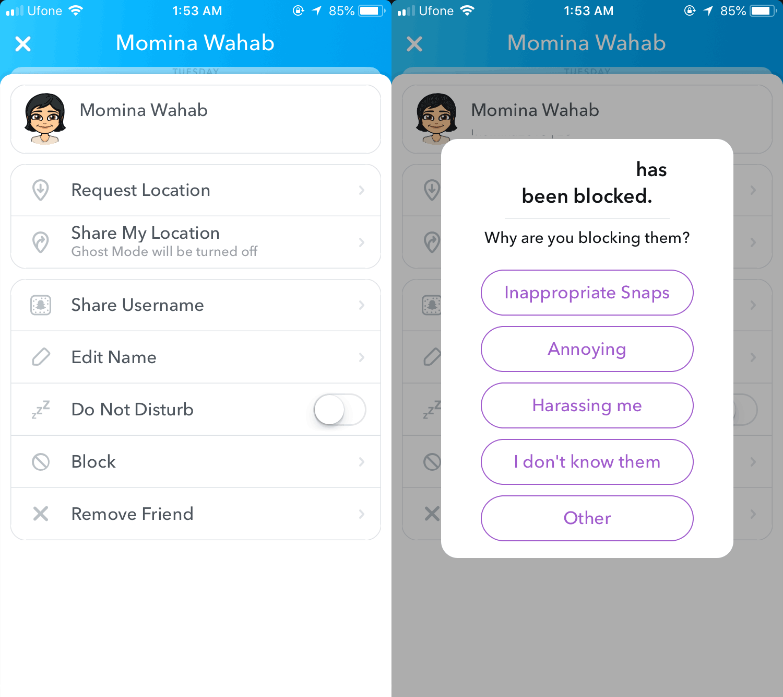How To Block Someone On Snapchat | Snapchat, Blocks