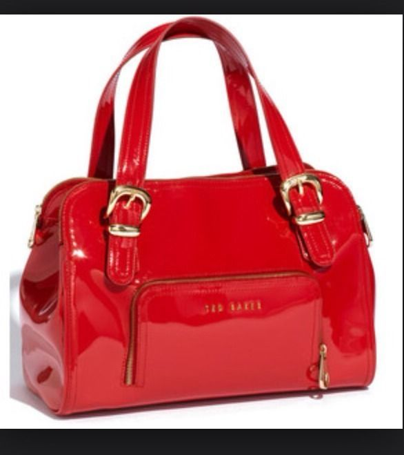 Ted Baker Red Patent Leather Bag Ebay