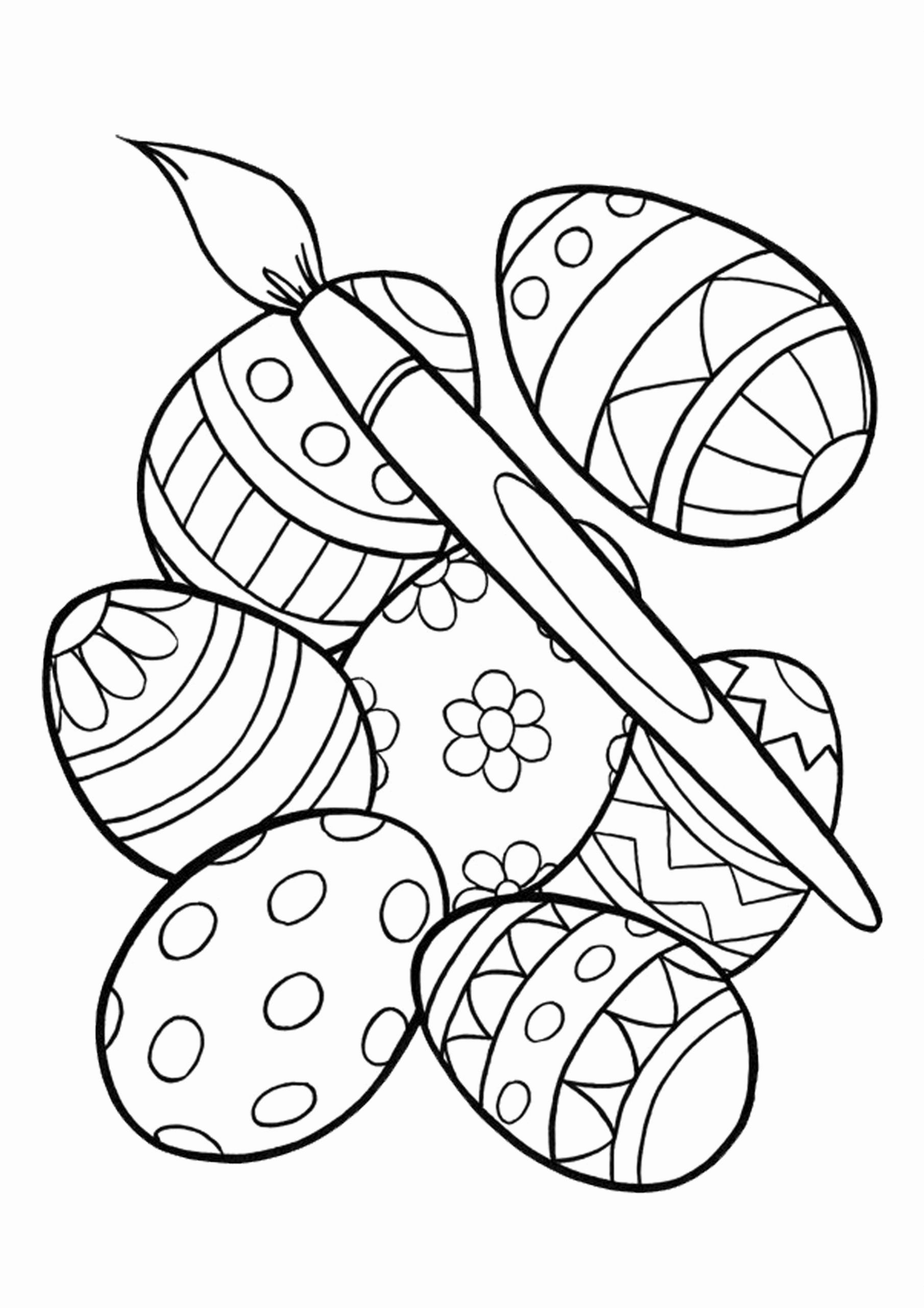 Printable Easter Eggs Coloring Pages Inspirational Easy ...
