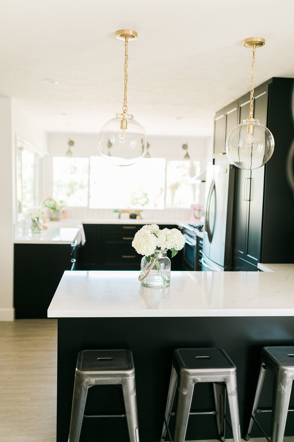 Clic Black Bright And Light Ikea Semihandmade Kitchen