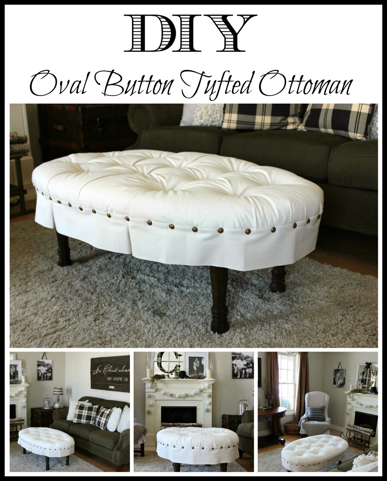 Diy Oval On Tufted Ottoman Round Upholstered Coffee