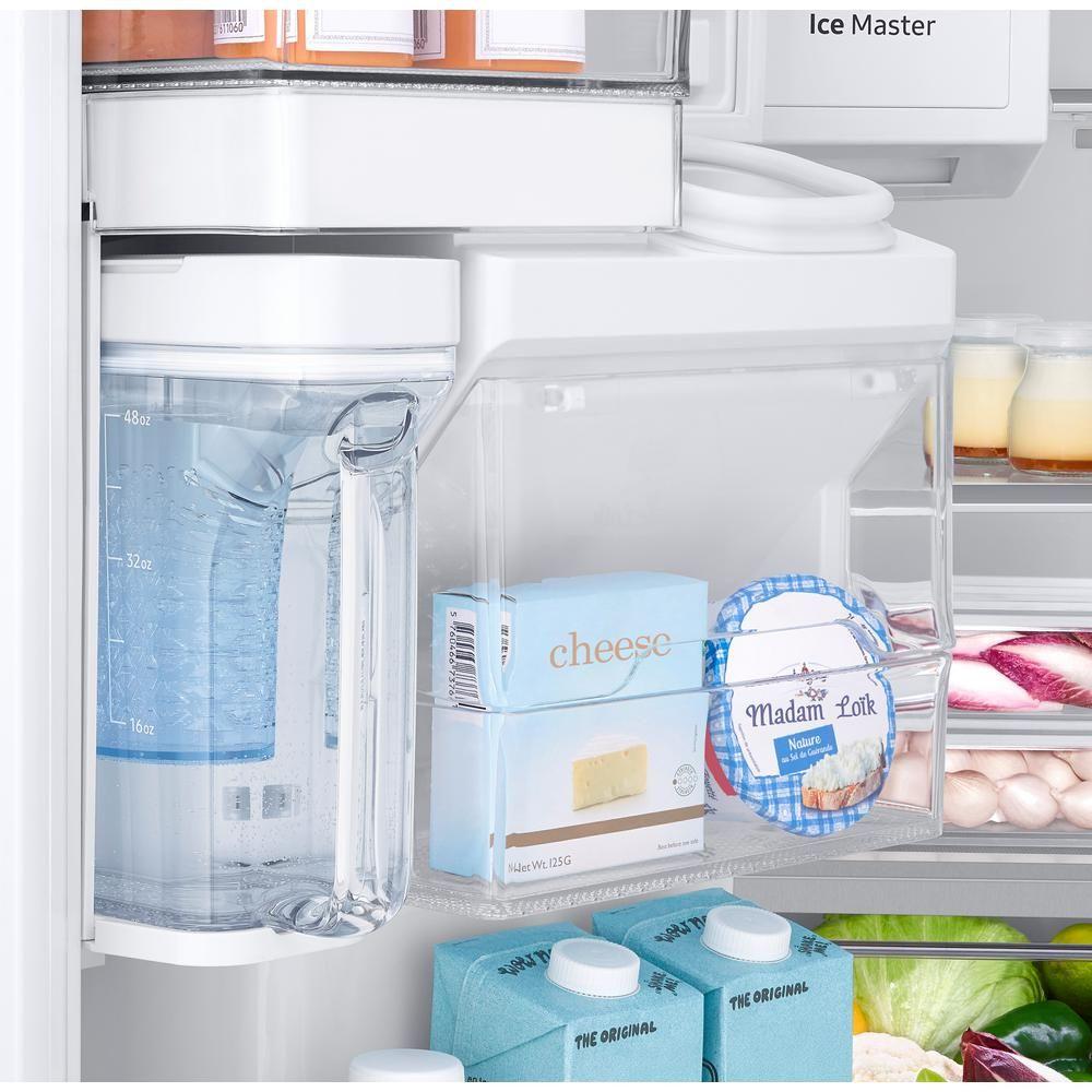 Samsung 22.6 cu. ft. 4-Door French Door Refrigerator with Recessed ...