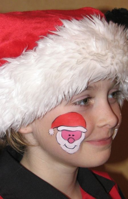 Christmas Flower Face Painting | Flickr - Photo Sharing! - Anny ...