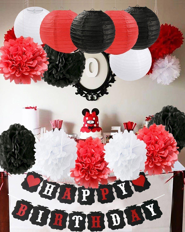 Komplette Dekoration für einen Mickey Mouse Geburtstag - Party ...