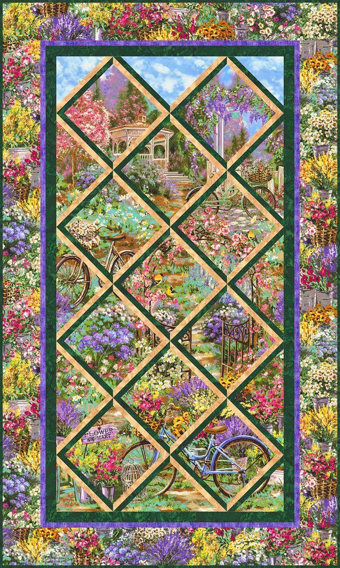Your Free Quilt Pattern Flower Market Trellis Attic