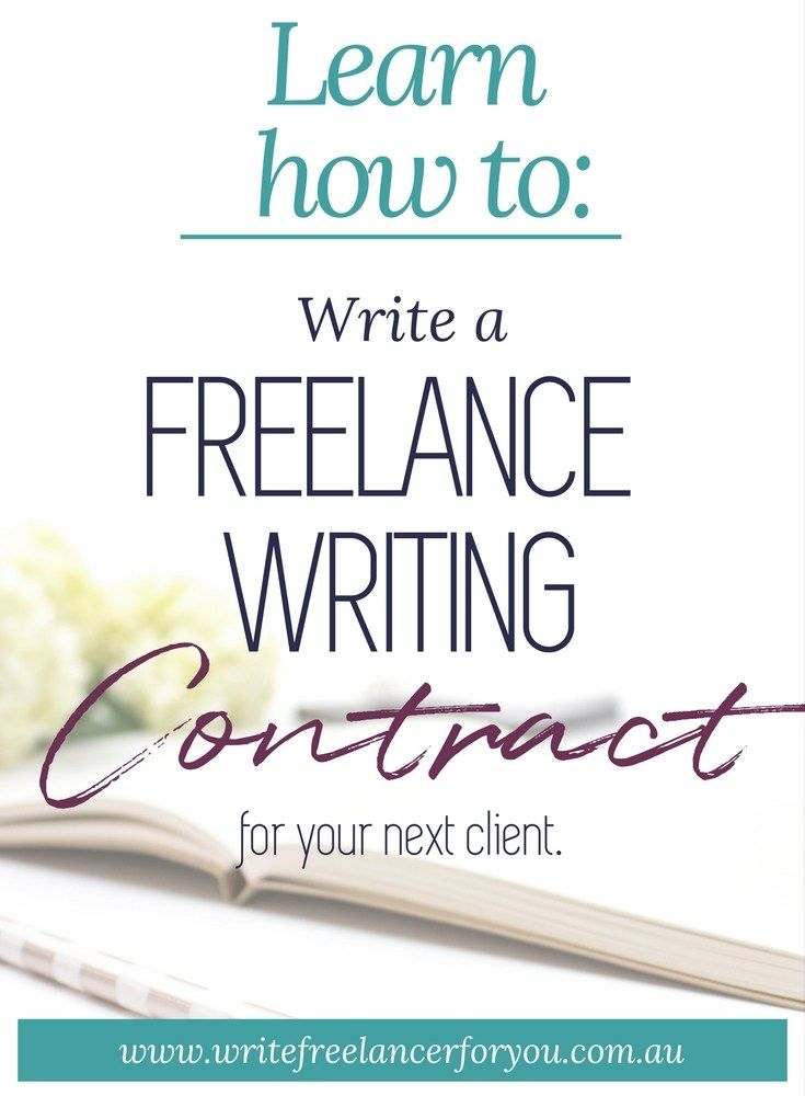 Learn how to write a professional freelance writer contract for - writing contract agreements