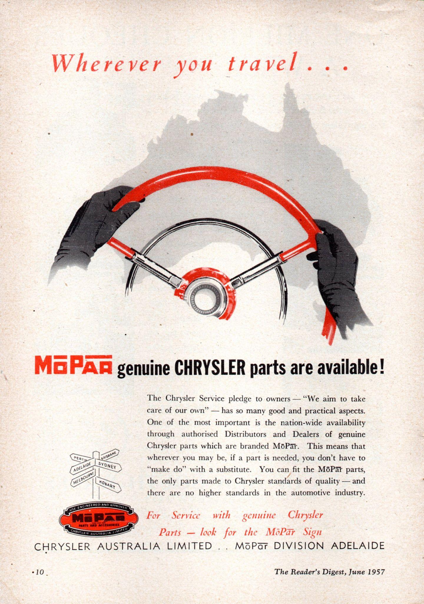 https://flic.kr/p/KSJGhW | 1957 Chrysler Mopar Genuine Parts ...