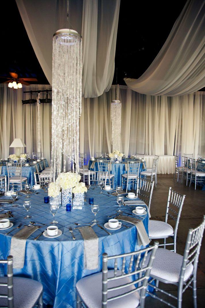Elegant Spring Wedding With Blue Silver Ivory Color Palette Venue