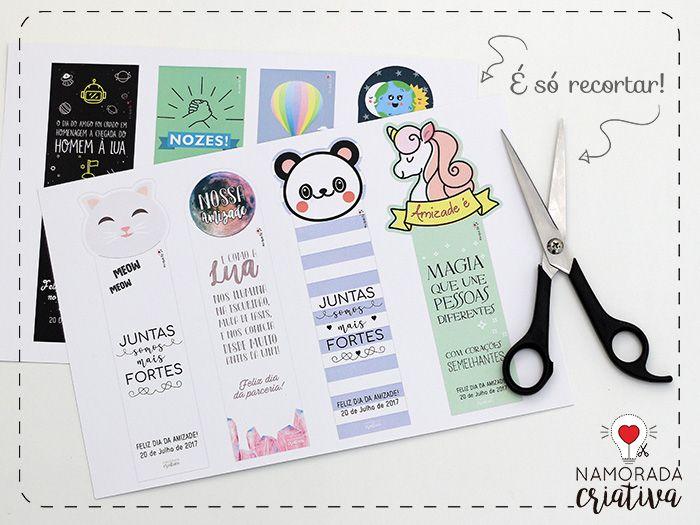 Populares Marca páginas para imprimir e dar aos amigos | Planners, Bookmarks  FY42