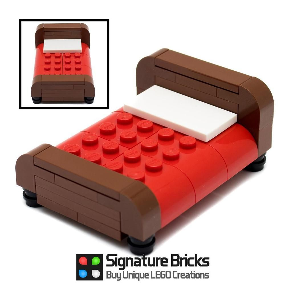 Cool Details About Lego Bed For Minifigures Furniture Town City Squirreltailoven Fun Painted Chair Ideas Images Squirreltailovenorg