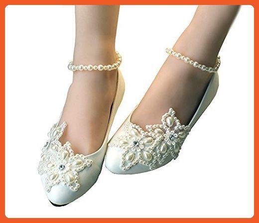 0c98b6266f20 Getmorebeauty Women s Mary Jane Flats Pearls Across The Top Beach Wedding  Shoes 5 B(M) US - Flats for women ( Amazon Partner-Link)