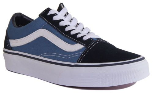 Vans Suede Canvas Old Skool Men Navy White Trainers 7 12