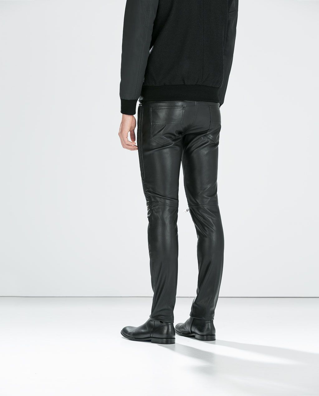 da131670 ZARA - MAN - SYNTHETIC LEATHER TROUSERS WITH ZIPS | Men looks ...