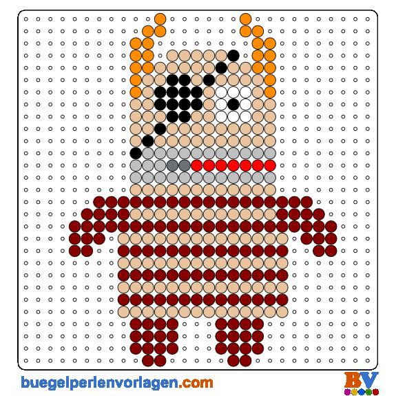 Serenaazureth Sesamestreet Oscar Grouch Custom Bugelperlen