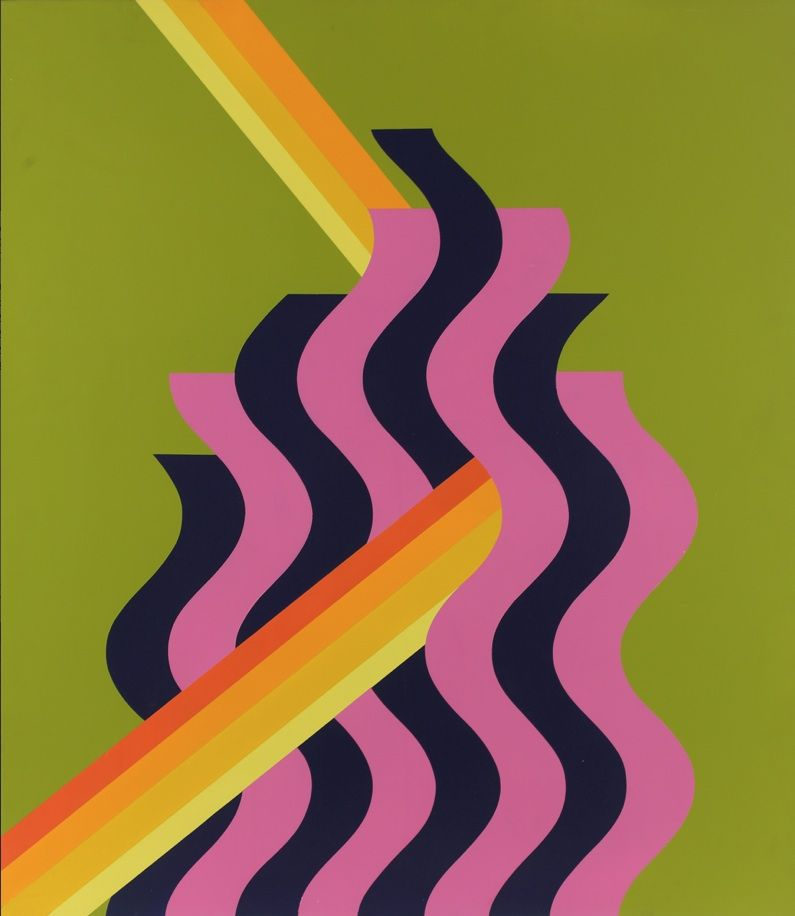 Pink Flame (1972) - Mohammed Melehi, Morocco