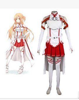 Sword Art Online Asuna Yuki Robe Ensemble Complet Cosplay Chaussures