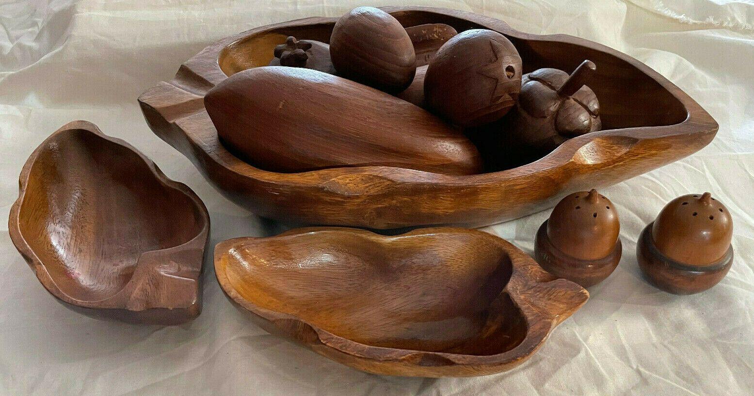 Pepper wood fruit bowl