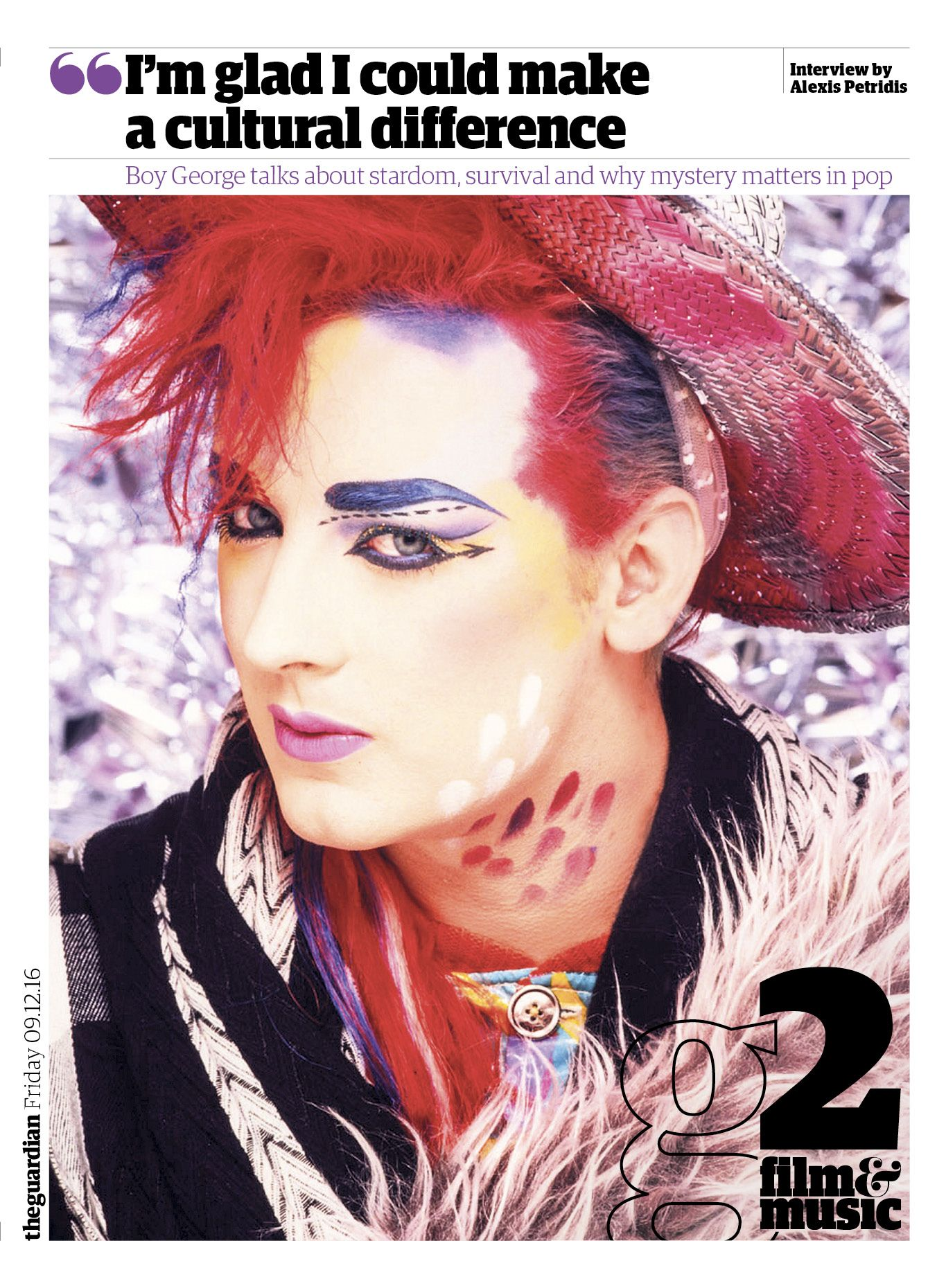 #editorialdesign #newspaperdesign #graphicdesign #design #theguardian Guardian g2 cover #BoyGeorge