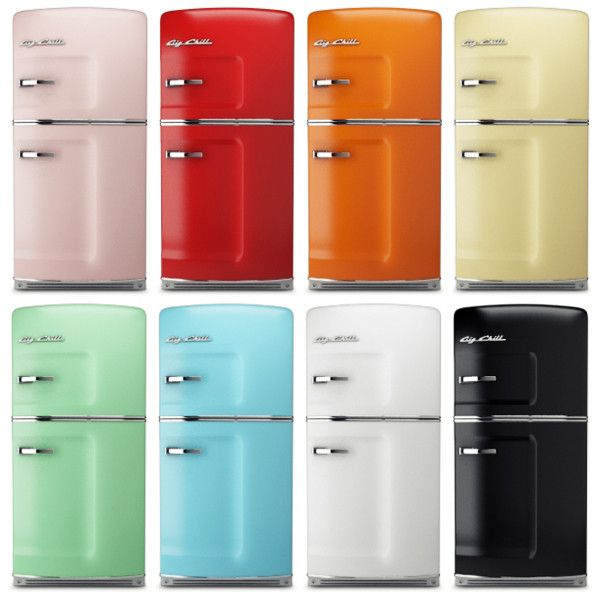 Retro Fridges From Chill Can Someone Just Gift Me One Of These I Ll Take Red Yellow White Green Aqua Any Them Really