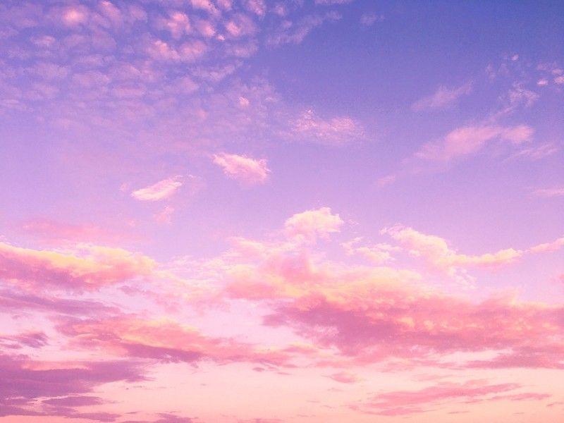 Beautiful Lavender Pink Clouds Metal Print By Newburyboutique