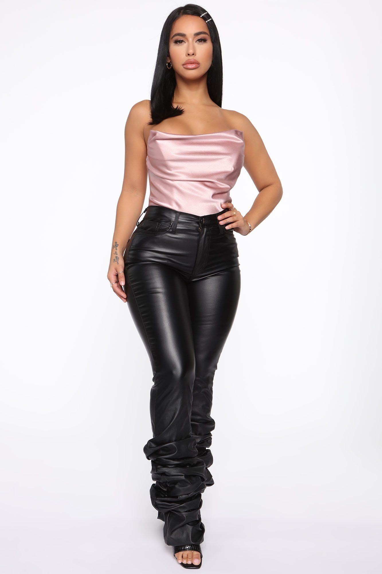 Dates With Him Satin Bustier Pink in 2020 Bustier