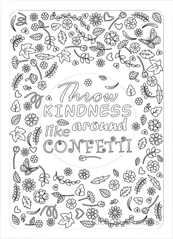 Printable  - copy free coloring pages showing kindness
