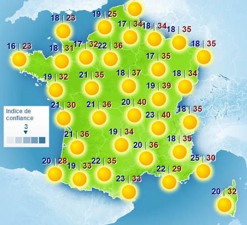 Carte de france soleil my blog - Meteo a la carte france 3 ...
