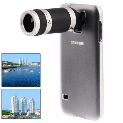 [USD5.10] [EUR4.64] [GBP3.66] 8X Zoom Lens Mobile Phone Telescope + Crystal Case for Samsung Galaxy S5 / G900