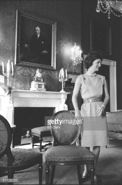 News Photo : First Lady Jacqueline Kennedy in the process of...