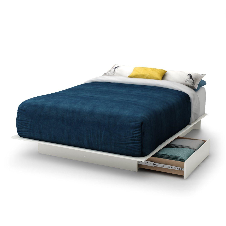 Best Full Size White Modern Platform Bed Frame With 2 Storage 400 x 300