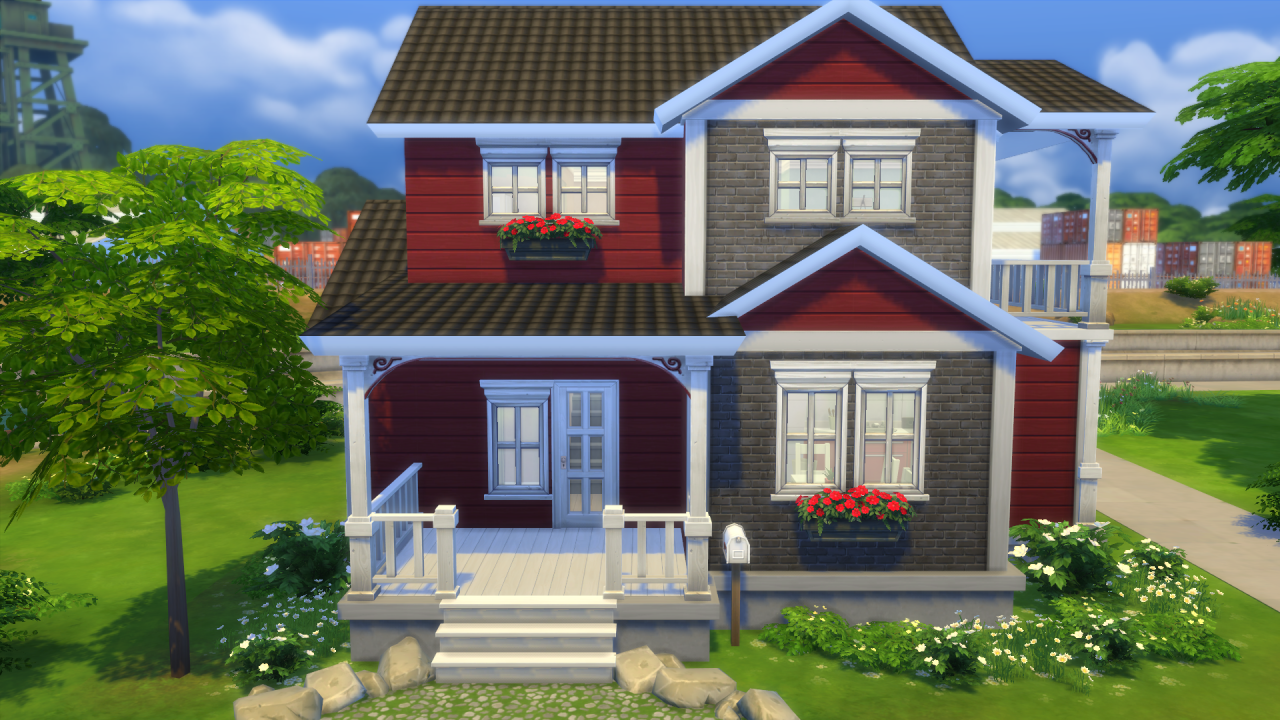 Sims 4 house small home | Sims house, Sims 4 houses, Sims