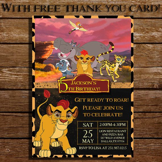 BUNGA The Bravest The Lion Guard Disney Junior Pinterest - Lion king birthday invitation template free