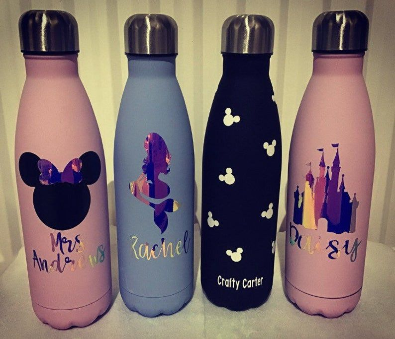 Clear personalized water bottle Gym water bottle Bridal party gifts water bottles Logo Water Bottle Custom Water Bottle for her