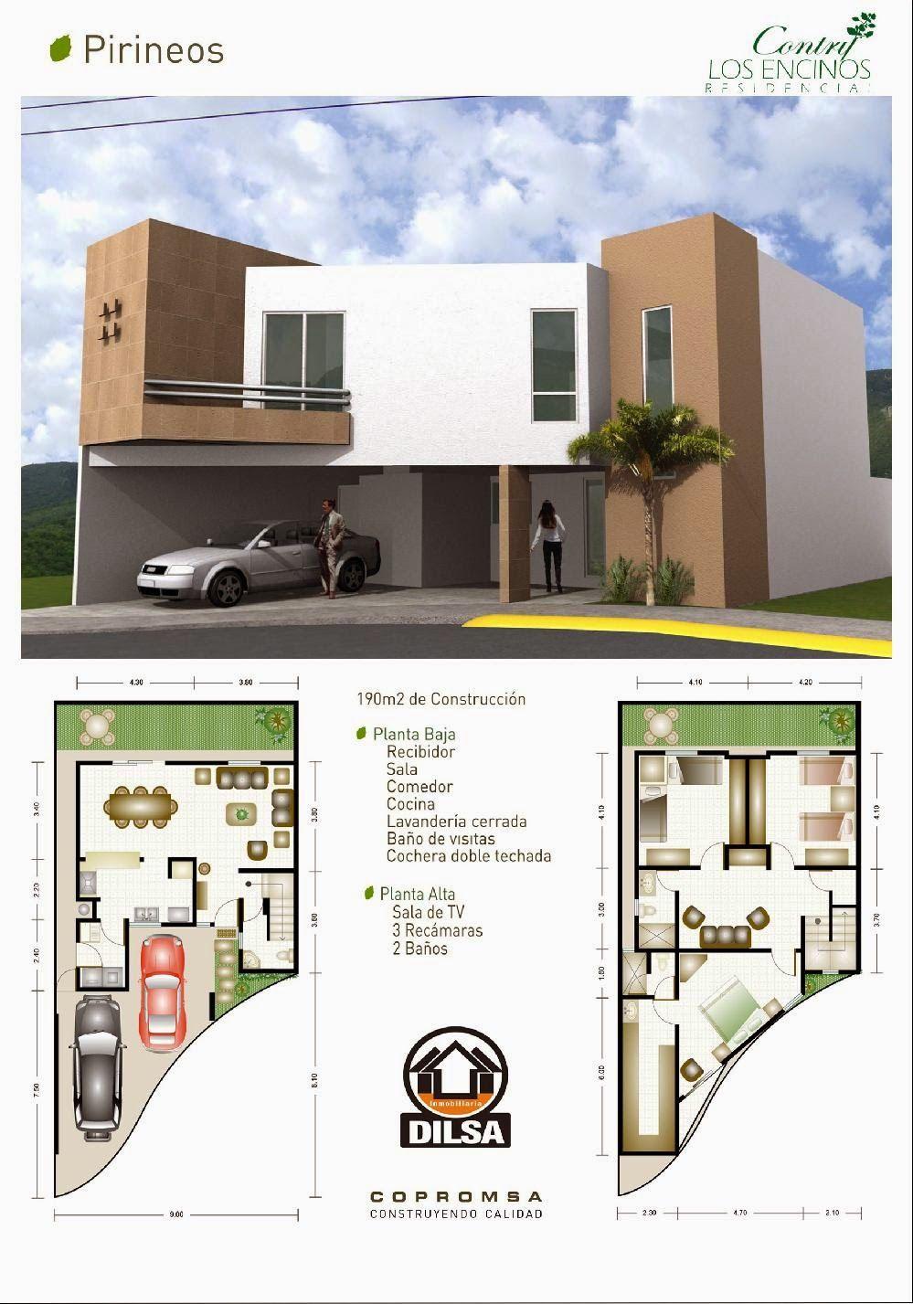 Modelo pirineos en contry los encinos residencial for Proyecto casa habitacion minimalista