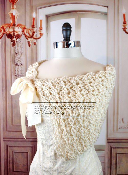 Spring Crochet Wedding Shawl Pattern Easy Crochet Pattern Spring