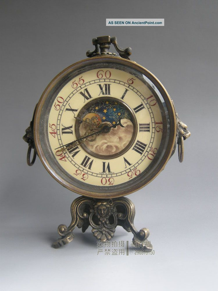Chinese Old Bronze Brass Watch Table Wall Mechanical Clock