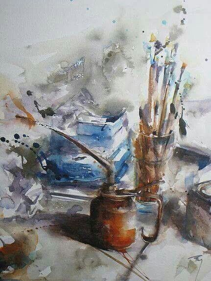 Watercolour Still Life Watercolor Art Colorful Art Art Painting