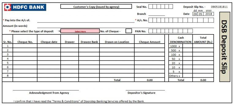 Bank Deposit Slip Template 5 Excel Word And Pdf Examples Excel Templates Templates Deposit
