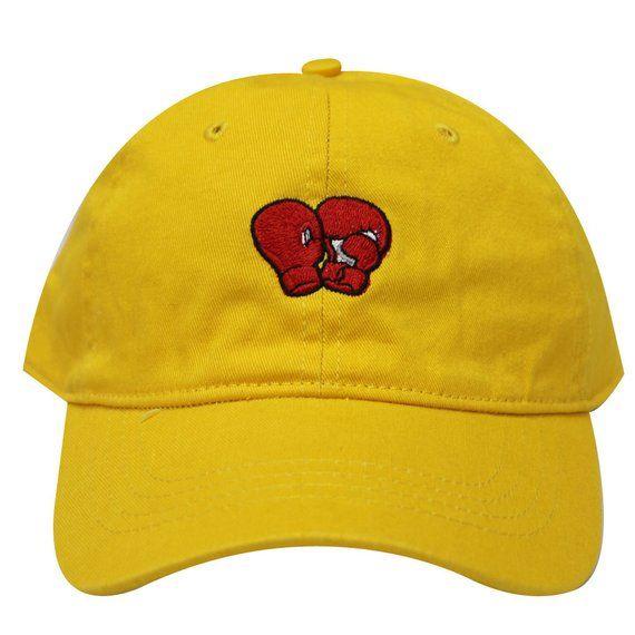 0606c224f0d Capsule Design Boxing Gloves Cotton Baseball Dad Cap Gold