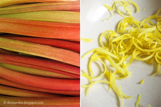 Die Raumfee: Rhabarbergelée & Vanille . Rhubarb gelée & Vanilla...