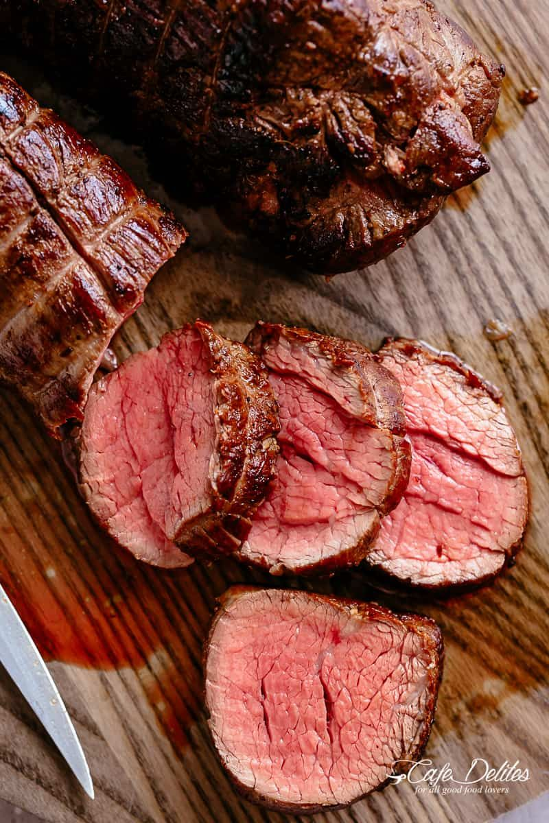 The Best Juicy Roast Beef Tenderloin Slathered With Garlic Butter That Melts In Your Mouth With Beef Tenderloin Beef Tenderloin Recipes Best Roast Beef Recipe