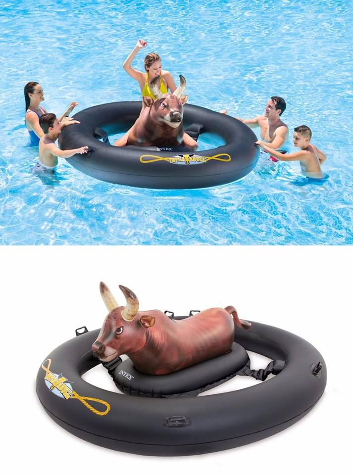 Turn Your Pool Party Into A Rodeo This Summer With The Inflat A Bull Looks Like Fun Pool Party Games Pool Floaties Bachelorette Pool Party