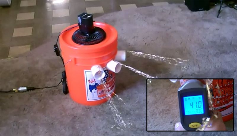 A low cost solarpowered swamp cooler diy air
