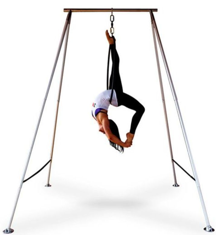 aerial yoga x pole a frame swing stand   perfect for aerial silks aerial yoga x pole a frame swing stand   yoga hammock aerial      rh   pinterest