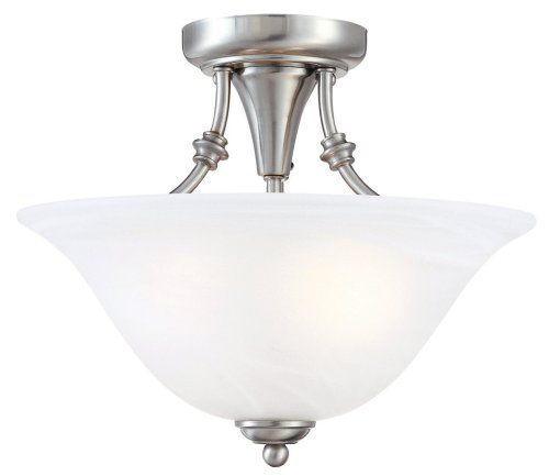Hardware House 544676 Bristol 13 By 11 Inch 2 Light Semi Flush Ceiling Fixture With Brush Semi Flush Ceiling Lights Flush Mount Ceiling Lights Ceiling Fixtures