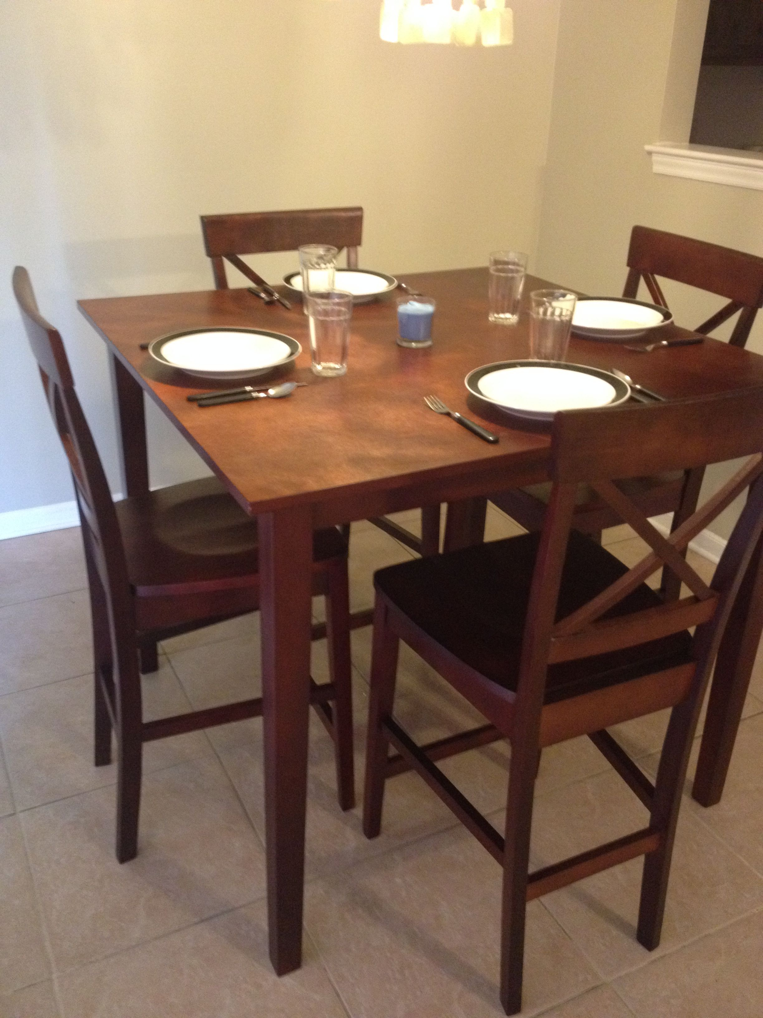 New tall Kitchen table. | Home ideas | Tall kitchen table ...