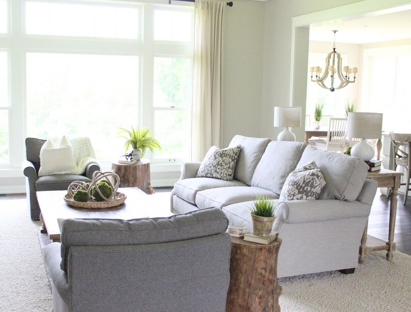 Benjamin Moore Revere Pewter Is The Color Throughout This Entire Fabulous  House. Living Room ...