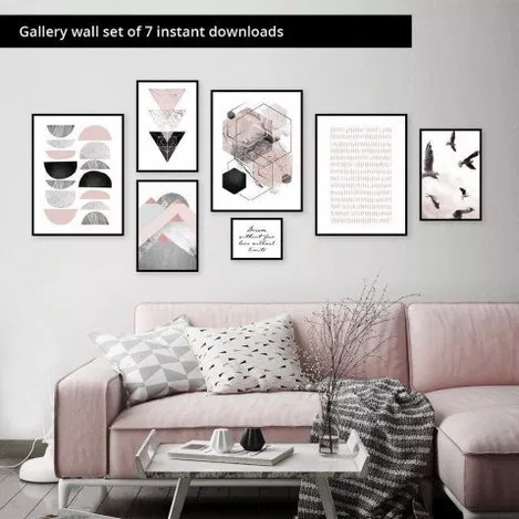 64 Outstanding Gallery Wall Decor Ideas 7 Gallery Wall