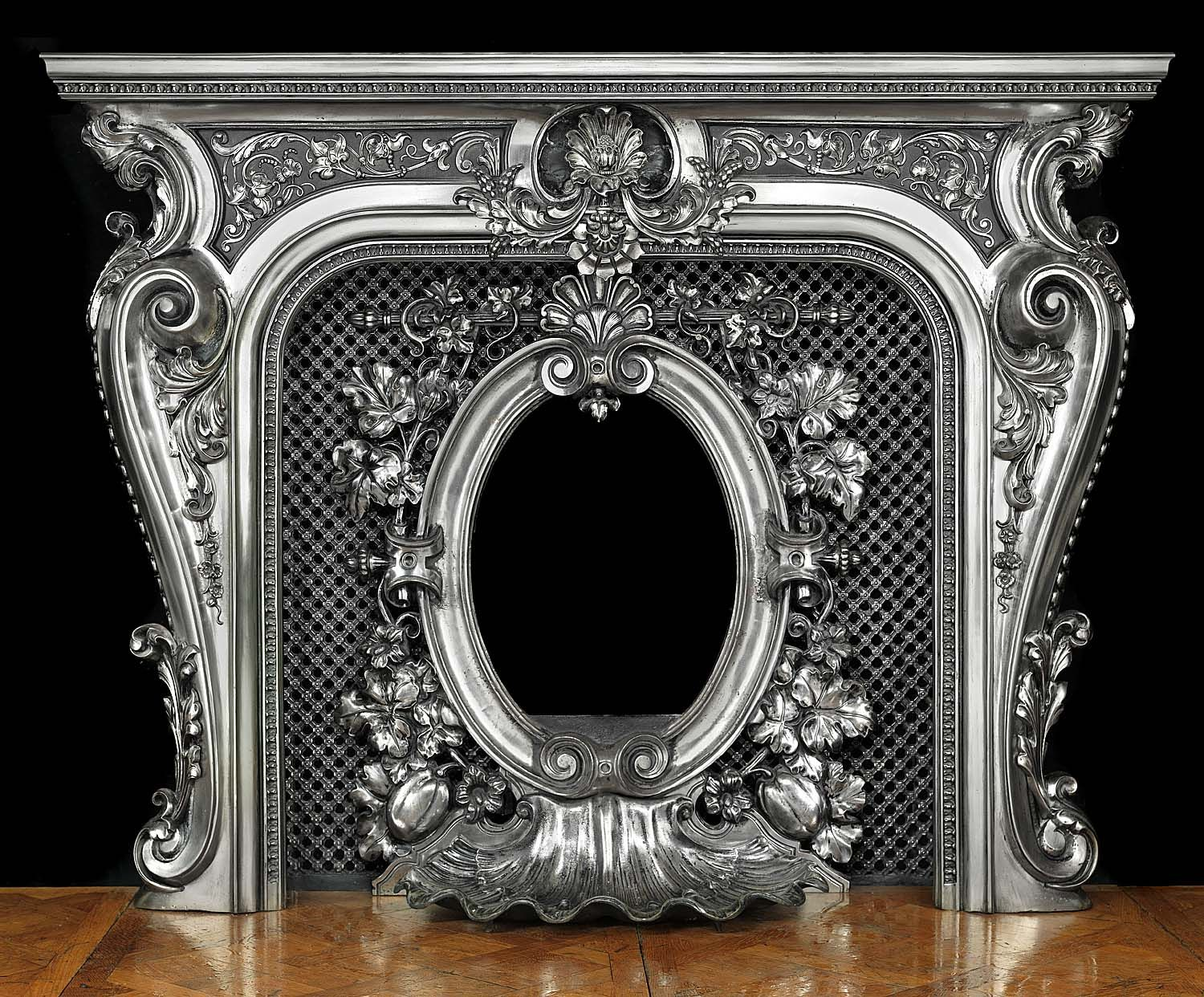rococo fireplace screen mantel surround miscellaneous fun