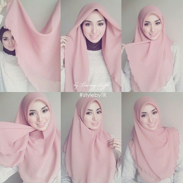 Pin By Bagisan On Design Inspiration Simple Hijab Tutorial Hijab Style Tutorial How To Wear Hijab